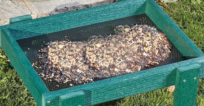 Woodlock Ground Tray from Happy Beaks