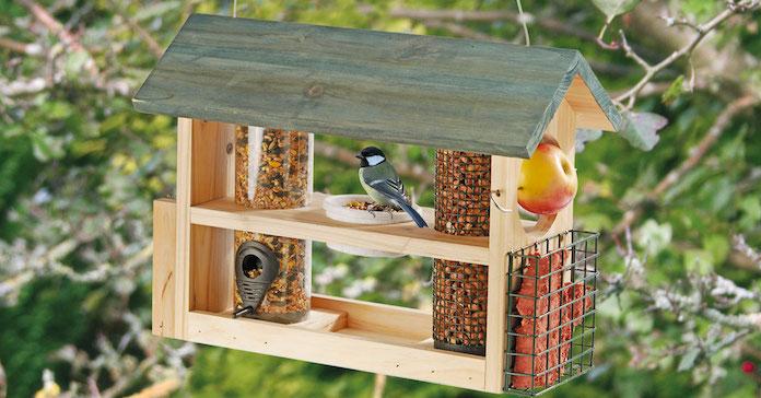 Wooden Bird Feeder Station from Happy Beaks