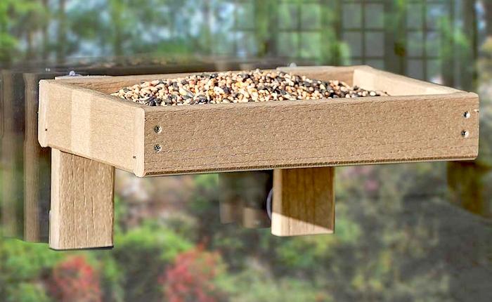 Woodlock window tray from Happy Beaks