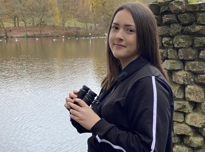 Aspiring ornithologist Mya Bambrick